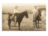 Girls on Horseback Print