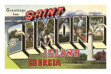 Greetings from St. Simon&#39;s Island, Georgia Posters