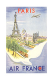 Paris - Air France Poster Photo