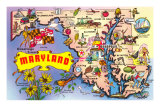 Map of Maryland Prints