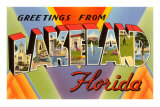 Greetings from Lakeland, Florida Prints