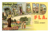Greetings from Deland, Florida Posters