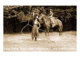 Cowgirls Roping Prints