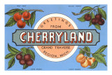 Souvenir de Cherryland, Grand Traverse, Michigan Posters