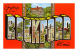 Greetings from Rockford, Illinois Prints