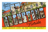Greetings from St. Augustine, Florida Poster