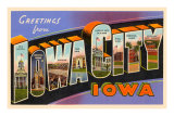 Greetings from Iowa City, Iowa Print