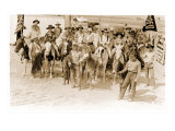 Group of Cowgirls on Horses Posters