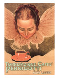 Butterfly Girl with Coffee Cup Print