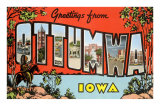 Greetings from Ottumawa, Iowa Prints