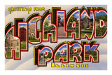 Greetings from Highland Park, Illinois Print