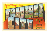Souvenir de Traverse City, Michigan Posters