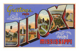 Greetings from Biloxi, Mississippi Posters