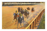 Horse Racing, Saratoga Springs, New York Posters