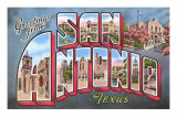 Greetings from San Antonio, Texas Posters