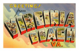 Greetings from Virginia Beach, Virginia Print