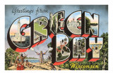 Greetings from Green Bay, Wisconsin Print
