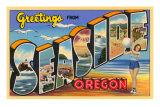 Greetings from Seaside, Oregon Print