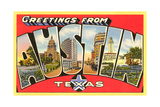 Greetings from Austin, Texas Print