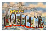 Cooper River Bridge, Greetings from South Carolina Prints