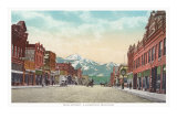 Main Street, Livingston, Montana Poster