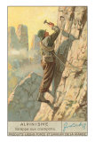 Rock Climbing with Crampons Poster