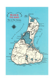 Map of Block Island, Rhode Island Posters