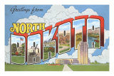 Greetings from North Dakota Print