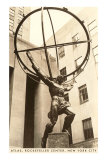 Atlas Statue, Rockefeller Center, New York City Print