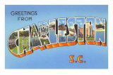 Greetings from Charleston, South Carolina Posters