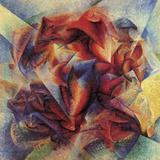 The Dynamism of a Saccer Player Reproduction procédé giclée par Umberto Boccioni