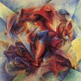The Dynamism of a Soccer Player Giclée-Druck von Umberto Boccioni