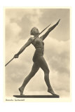 German Female Athlete, with Javelin Posters
