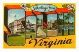 Greetings from Salem, Virginia Prints