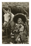 Woman with Horse, Mexican Charra Posters