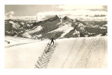 Skier Doing Herring-Bone Uphill Print
