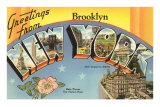 Greetings from Brooklyn, New York City Prints