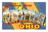 Greetings from Cincinnati, Ohio Posters