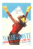 Valle d'Aoste Ski Resort Advertisement Print