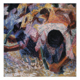 The Street Pavers Giclee Print by Umberto Boccioni