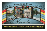 Greetings from Reno, Nevada Print