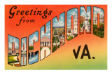 Greetings from Richmond, Virginia Prints