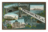 Greetings from Providence, Rhode Island Prints