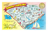 Map of South Carolina Poster