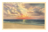 Sunrise over Ocean, Long Beach Island, New Jersey Poster