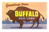 Greetings from Buffalo Posters