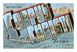 Greetings from Corpus Christi, Texas Poster