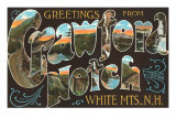 Greetings from Crawford Notch, White Mountains, New Hampshire Poster