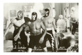 Mexican Wrestlers, Photo Poster