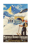 Montreux Ski Poster Photo